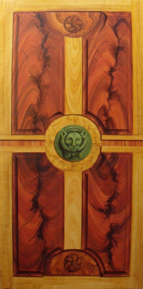 Faux Bois Acajou : Panneau en faux bois : acajou flamm?, merisier, bois de rose, loupe
